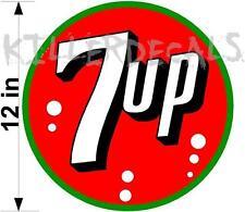 "12"" 7UP 7 UP (7UP403) COOLER POP soda coca cola machine decal"