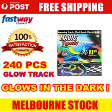 240 MAGIC TRACKS LED LIGHT UP RACE CAR Glow in the Dark Bend Flex ON TV Toy AU