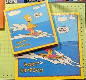 """The Simpsons Puzzle - 250 Pc -100% Complete 16"""" x 16"""" 1990 - MB - Bart Simpson"""