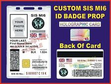 JAMES BOND 007 ID Badge/ Card (SIS MI6)  >CUSTOMIZABLE<  - US MILITARY CAC STYLE