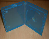 Blu Ray Hülle ( Cases Hüllen Blue Bluray ) blau für Blu-Rays 11mm 1fach Neu