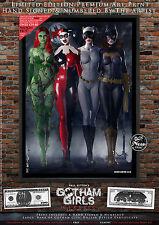 5 Print Set, Gotham Girls CLASSIC  - Poison Ivy Harley Quinn Catwoman Batgirl