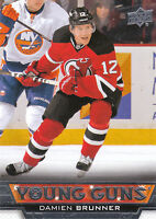 13/14 UPPER DECK YOUNG GUNS ROOKIE RC #208 DAMIEN BRUNNER DEVILS *27807
