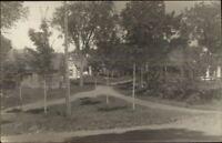 Temple ME Message West Farmington Cancel Road & Homes Real Photo Postcard