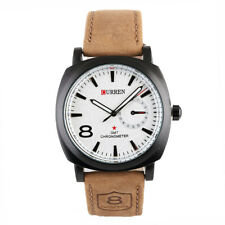 New Men's Military Army Quartz Wrist Watch CURREN Men's Leather Strap Sport