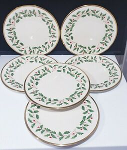 LENOX - DIMENSION COLLECTION - HOLIDAY - CHRISTMAS DINNER PLATES - SET OF 6