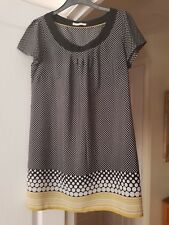 Marks & Spencer Black Mix Short Dress/Tunic Top, Size 10, VGC