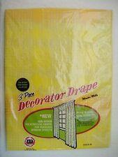Vintage Maytex Mills 3 piece Plastic Vinyl Polyethylene Drape Drapes Curtains