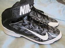 NEW Mens/Boys Nike Air Huarache Pro Metal Baseball Cleats 12 Wht/Blk FREE SHIP