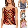 Fashion Women Lady Vest O-Neck Leopard Striped Print Sleeveless Blouse Tank Tops