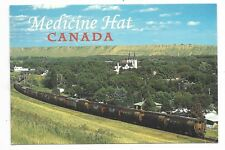 MEDICINE HAT ALBERTA  Skyline, Church, Train
