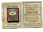 1930 LONG SERVER COUGH SYRUP ADVERTISING NEEDLE BOOK FORD TRI-MOTOR AIRPLANE