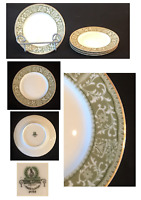 "VINTAGE Sone China Dinnerware 6.25"" Bread Plates Pattern # 2468 Green Set of 4"