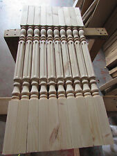 Solid Pine Pack 16 Fluted Rolling Pin Stair Spindles 41mm x 900mm