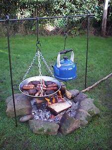 Cooking Tripod Bushcraft Camping Dutch oven cooking Tripod 3 Way  Reanactment