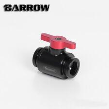 """Barrow G1 / 4 """"NOIR MAT MINI valve avec poignée rouge en aluminium"""