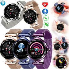 Women Ladies Bluetooth Smart Watch Stainless Steel Wrist Bracelet Sleep Monitor