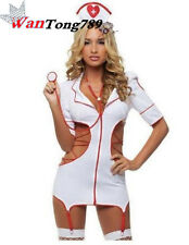 Fancy SexyDress Hot Lingerie Nurse Costume Adult Women Halloween Outfit 5Pcs Set
