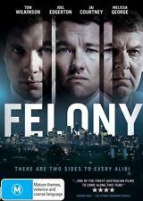 Felony (Dvd) Drama, Thriller, Joel Edgerton, Jai Courtney, Tom Wilkinson
