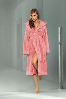 Women Luxury SOFT Robe Housecoat Dressing Gown Hooded Bathrobe UK Size S M L XL