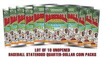 Lot of 10 - BASEBALL FOIL COIN UNOPENED SEALED PACKS