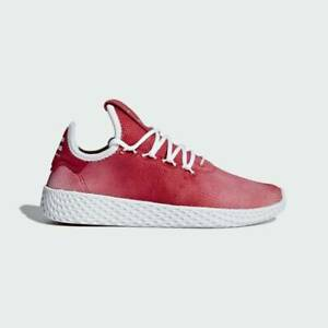 Adidas Hu Originals UK Size 4 Women's Trainers Red White Shoes