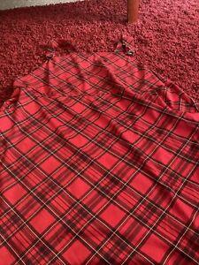 tartan pinafore dress Size 26/28