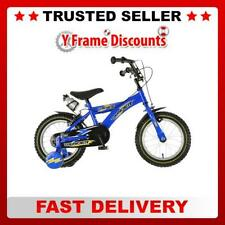 "Dawes Thunder Boys 14"" Wheel Childrens Bike in Racing Blue with Number Plate"