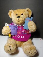 Let'S Talk Avon Teddy Bear Vintage Plush Beary Beautiful Collection Gabbigail 12