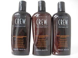 American Crew Daily Moisturizing Shampoo 8.4 oz (dented) Pack of 3