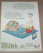 1955 print ad - Lees Carpet cute turtle piggy bank lady art artwork advertising