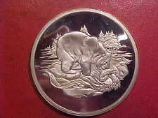 2+ OZ STERLING SILVER AMERICAN WILDLIFE - MINTED IN ENG. - GRIZZLY BEAR - (G773)