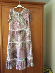 Kleid Damen Gr. 48 Folklore Marke HEINE