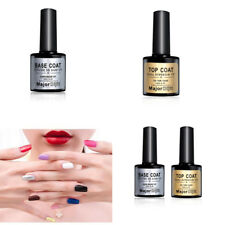 Women Base and Top Coat soak off UV Nail Art Gel Polish Beauty 12ml!