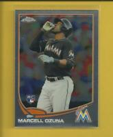 Marcell Ozuna RC 2013 Topps Chrome Rookie Card # 33 St. Louis Cardinals Braves