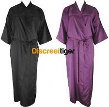Satin Patternless Robes for Women