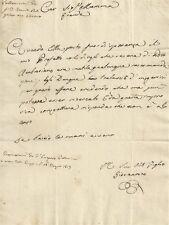 Milano Lettera Autografa di Giovanni Pallavicini alla Madre Eugenia 1817