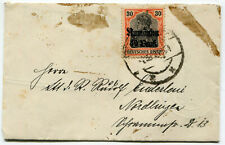 Romania 1918 WWI German occupation stamps on censored liliput cover to Germany