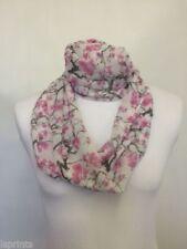 Écharpes et châles rose à motif Floral en mousseline pour femme