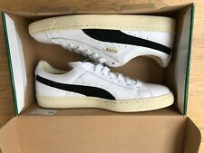 Puma Basket Classic Low Top White / Black Trainers UK Size 9