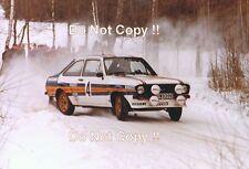 El Señor Vatanen nos Ford Escort RS1800 rally sueco 1981 fotografía