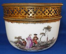 Rar Antique 18thC Meissen Porcelain Scenic Scene Sugar Dish Porzellan Zuckerdose