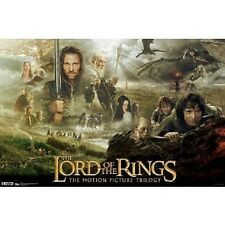 "Lord of the Rings Trilogy Movie Poster Print 34""x22"" Lotr collectible art"
