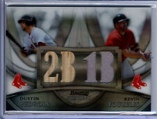 Pedroia / Youkilis 2010 Bowman Sterling Relic Card #065/199