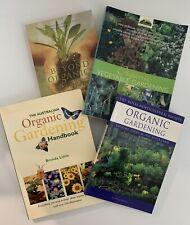 4x Organic Gardening Books Vegetable Brenda Little Annette McFarlane Free Post