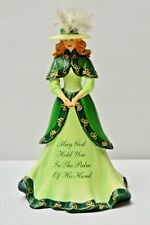 """HAMILTON EMERALD ISLES IRISH FIGURINE """"MAY GOD HOLD YOU IN THE PALM OF HIS HAND"""""""