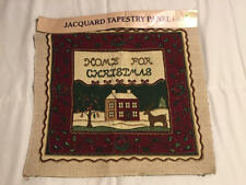 Home For Christmas Jacquard Tapestry Panel Pillow Wall Hanging Olde Greensboroug