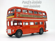 5 inch London City Sightseeing Double Decker Tour Bus Scale Diecast Metal Model