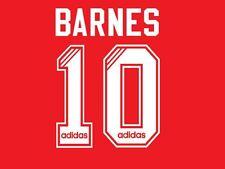 No 10 Barnes Liverpool 1995-1996 Home Football Nameset for Shirt LFC