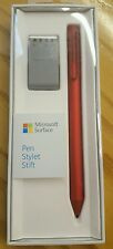 NEW RED MICROSOFT SURFACE PEN 2016 WITH 4 NIBS / TIPS, PRO BOOK MS UK STYLUS 3 4